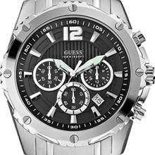 Relógio Guess Masculino Cronógrafo Prata Preto 92489G0GSNA5