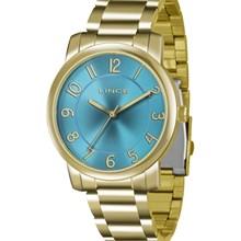 Relógio Lince Feminino Dourado Azul LRG4336L D2KX