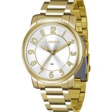 Relógio Lince Feminino Dourado Branco LRG4336L S2KX
