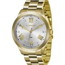Relógio Lince Feminino Dourado Branco LRGJ046L S3KX