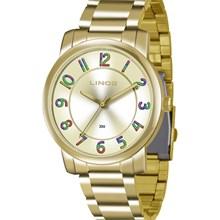 Relógio Lince Feminino Dourado LRG4337L C2KX