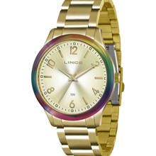 Relógio Lince Feminino Dourado LRG4359L C2KX