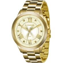 Relógio Lince Feminino Dourado LRGJ046L C3KX