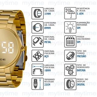 Relógio Lince Feminino Led MDG4617L BXKX