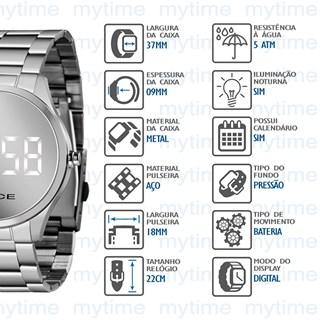 Relógio Lince Feminino Led MDM4617L BXSX