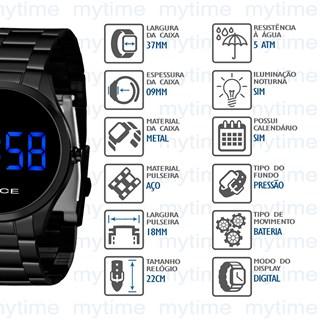 Relógio Lince Feminino Led MDN4617L DXPX