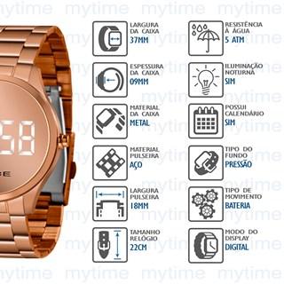 Relógio Lince Feminino Led MDR4617L BXRX