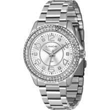Relógio Lince Glam feminino prata LRMJ055L