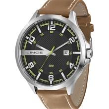 Relógio Lince Masculino Couro Marrom Preto MRC4351S P2MB