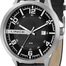 Relógio Lince Masculino Couro Prata Preto MRC4271S P2PX