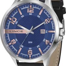 Relógio Lince Masculino Couro Preto Azul MRC4351S D2PB