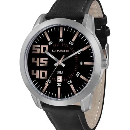 fb08e3a8f80 Relógio Lince Masculino Couro Preto MRC4352S P2PX - My Time
