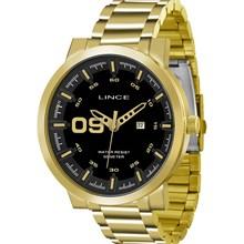 Relógio Lince Masculino Dourado Preto MRGH017S P2KX