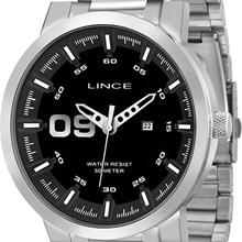 Relógio Lince Masculino Prata Preto MRMH017S PBSX
