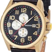 Relógio Magnum Masculino Cronógrafo Dourado Preto MA34469P