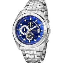 Relógio Magnum Masculino Cronógrafo Prata Azul MA32005F