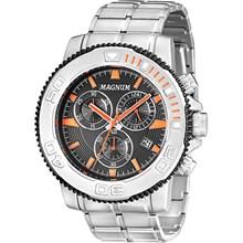 Relógio Magnum Masculino Cronógrafo Prata Preto MA33246J