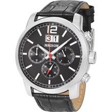 Relógio Magnum Masculino Cronógrafo Prata Preto MA34950T