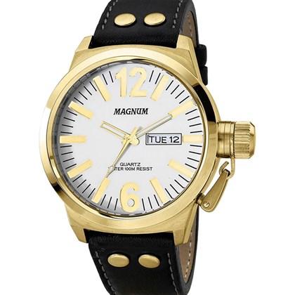 30ac3b1d82f1c RELÓGIO MAGNUM MASCULINO MA31524B COURO - My Time