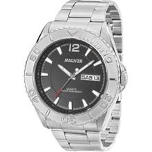 Relógio Magnum Masculino Prata Preto MA33004T