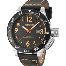 Relógio Magnum Masculino Prata Preto MA33700J