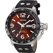 Relógio Magnum Masculino Prata Preto Vermelho MA31542V