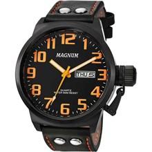 Relógio Magnum Masculino Preto Laranja MA32952J
