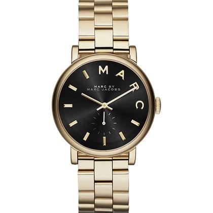 f4d1183f66ae1 Relógio Marc Jacobs Feminino Dourado Preto MBM3355 - My Time