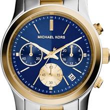 Relógio Michael Kors Feminino Cronógrafo Misto Azul MK6165