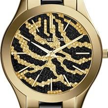 Relógio Michael Kors Runway Safari Feminino Dourado MK3315