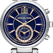 Relógio Michael Kors Sawyer Feminino Cronógrafo Azul MK6224