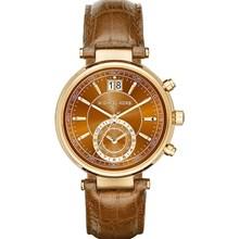 Relógio Michael Kors Sawyer Feminino Cronógrafo Marrom MK2424