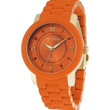 Relógio Mondaine Agatha Feminino Dourado Laranja 76241LPMBDZ6