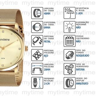 Relógio Mondaine Feminino 53820LPMVDE1