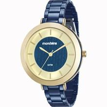 Relógio Mondaine Feminino Azul Dourado 99172LPMVLE3