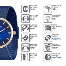 Relógio Mondaine Feminino Azul Esteira 94876LPMVLE2