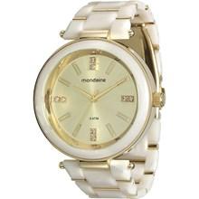 Relógio Mondaine Feminino Branco Dourado 76637LPMVDZ3