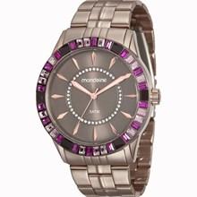 Relógio Mondaine Feminino Chocolate Rosa 78730LPMVMA1