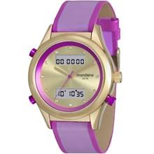 Relógio Mondaine Feminino Couro Dourado Lilás 99120LPMVDH2