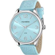Relógio Mondaine Feminino Couro Prata Azul 76618L0MVNH1