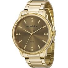 Relógio Mondaine Feminino Dourado 53510LPMVDE2