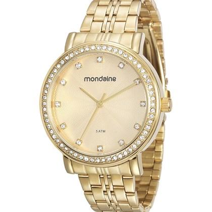 Relógio Mondaine Feminino Dourado 76523LPMVDE1