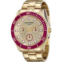 Relógio Mondaine Feminino Dourado 78694LPMVDA3