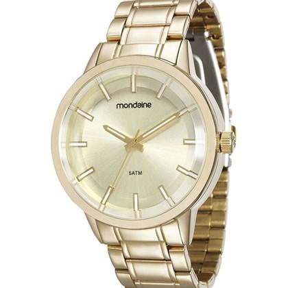 Relógio Mondaine Feminino Dourado 83322LPMVDE1