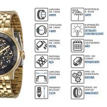Relógio Mondaine Feminino Dourado 94713LPMVDE2