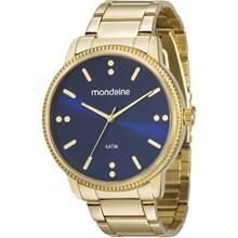 Relógio Mondaine Feminino Dourado Azul 53510LPMVDE1