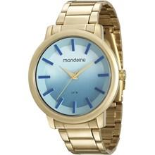 Relógio Mondaine Feminino Dourado Azul 53533LPMVDE3