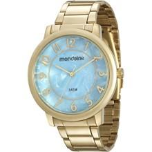 Relógio Mondaine Feminino Dourado Azul 53534LPMVDE2