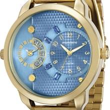 Relógio Mondaine Feminino Dourado Azul 76544LPMVDE3
