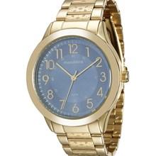 Relógio Mondaine Feminino Dourado Azul 76546LPMVDE1